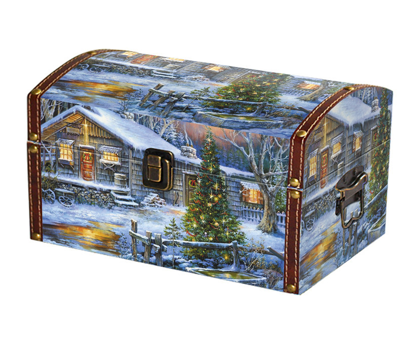 """Новогодний подарок из дерева - Сундук \""""Елка в лесу\"""" ЭЛИТ ..."""